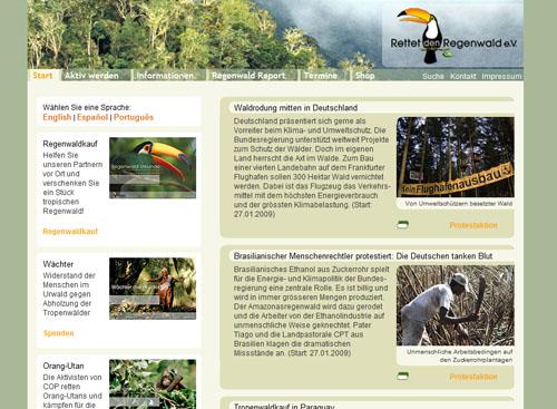 Regenwald.org kämpft gegen die Abholzung der Wälder und für den Erhalt von natürlichen Lebensräumen der Tiere.