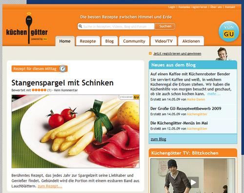 Küchengötter.de: Tolle Rezepte in schöner Aufmachung.