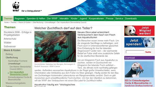 Das WWF-Fischlexikon verrät, welche Meerestiere bedenkenlos gegessen werden können.