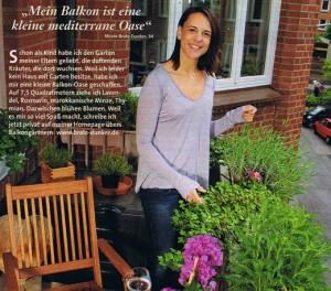 Nikki Bralo gibt Tipps für Kräuter auf dem Balkon. Foto: Ulrike Schacht.