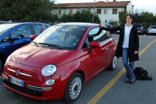 Kurzurlaub ToskanaKurzurlaub Toskana: Nikki Bralo startet mit einem Fiat 500 von Pisa aus.