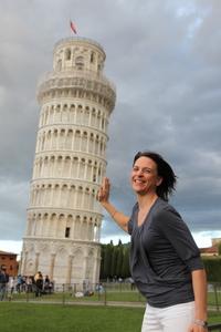Nikki in Pisa.