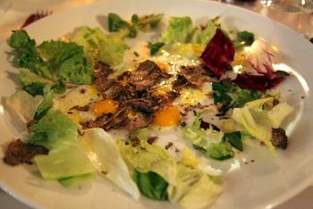 Trüffeln mit Ei: Eine Spezialität in San Miniato.